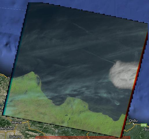Bölgeye ait uydu görüntüsü